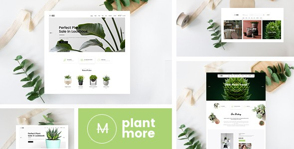 Plantmore  - OpenCart Theme (Included Color Swatches)