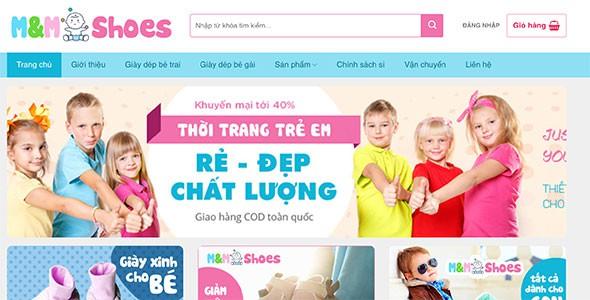 Mẫu web bán đồ trẻ em mẹ và bé