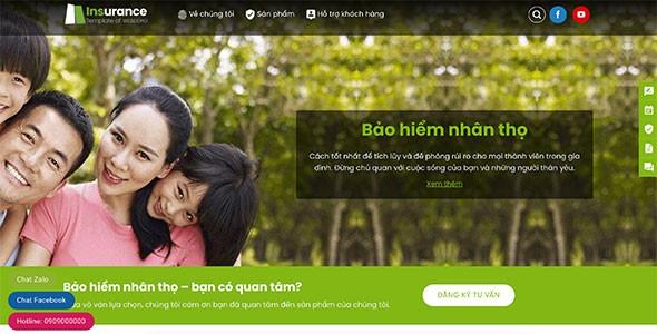 Web công ty bảo hiểm