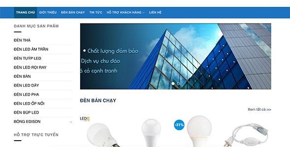 Mẫu web bán bóng đèn