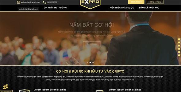 Mẫu web tiền ảo
