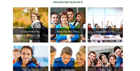 Mẫu web dạy học