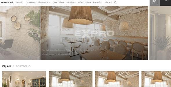 Mẫu web công ty thiết kế nội thất