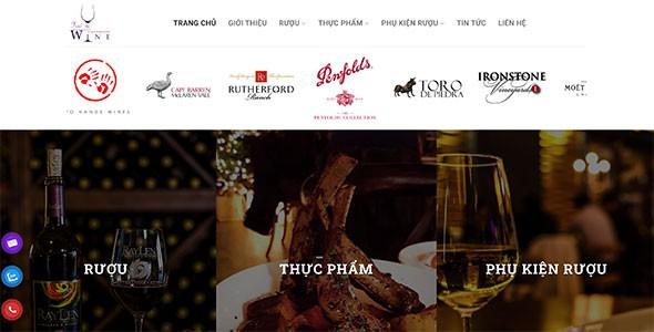 Mẫu web bán rượu ngoại