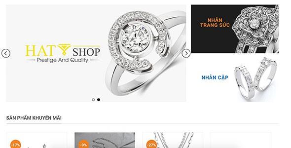 Mẫu web trang sức đá quý