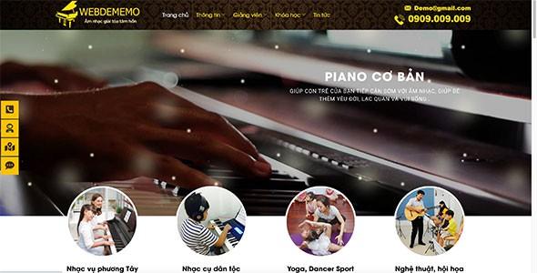 Mẫu web piano