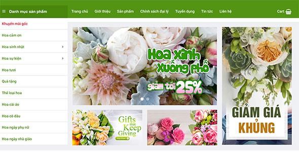 Mẫu web bán hoa shop hoa