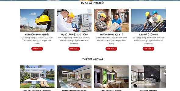 Mẫu web công ty xây dựng