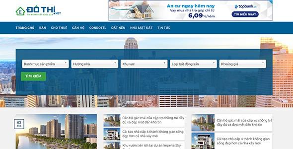 Mẫu web đăng dự án BĐS