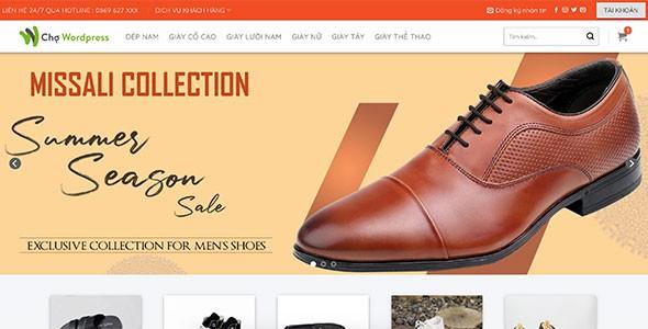 Mẫu web bán giày Nam cao cấp
