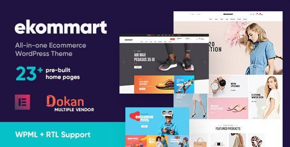 Ekommart – All-in-one eCommerce WordPress Theme