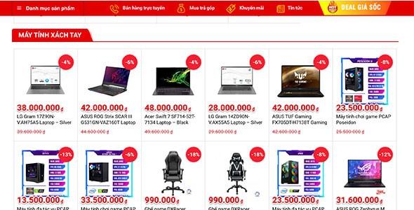 Web Chuyên mua bán pc - laptop - loa karaoke - điện thoại