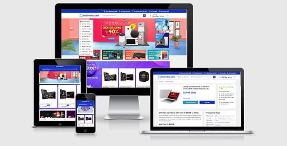 Mẫu web bán laptop, điện thoại, đồ chơi phụ kiện